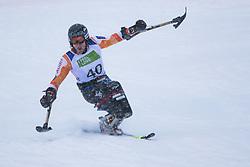 Kampschreur Jeroen of Nederlands during Slalom race at 2019 World Para Alpine Skiing Championship, on January 23, 2019 in Kranjska Gora, Slovenia. Photo by Matic Ritonja / Sportida