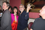 LADY NAIPAUL; FAROUK DHOMBY, The Literary Review Bad Sex in Fiction Award 2014. The In and Out ( Naval and Military ) Club, 4 St. James's Sq. London SW1. 3 December 2014.
