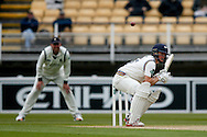 Yorkshire Gary Ballance ducks under one during the Specsavers County Champ Div 1 match between Warwickshire County Cricket Club and Yorkshire County Cricket Club at Edgbaston, Birmingham, United Kingdom on 24 April 2016. Photo by Simon Davies.