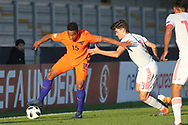 Jurri Maduro of Netherlands (15) during the UEFA European Under 17 Championship 2018 match between Netherlands and Spain at the Pirelli Stadium, Burton upon Trent, England on 8 May 2018. Picture by Mick Haynes.