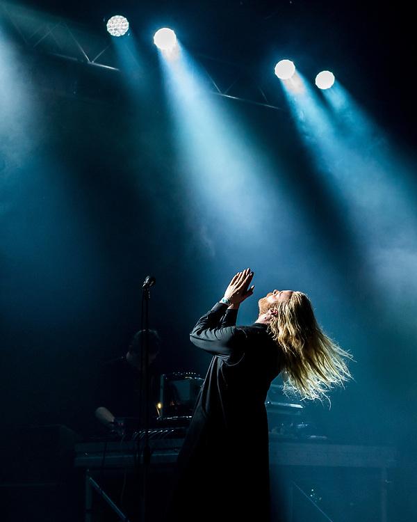 Högni Egilsson of Icelandic electronic band GusGus at Iceland Airwaves