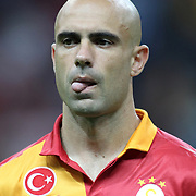 Galatasaray's Cristian Margues Gomes during their Turkish Super League soccer match Galatasaray between Kayserispor at the TT Arena at Seyrantepe in Istanbul Turkey on Saturday, 27 October 2012. Photo by TURKPIX