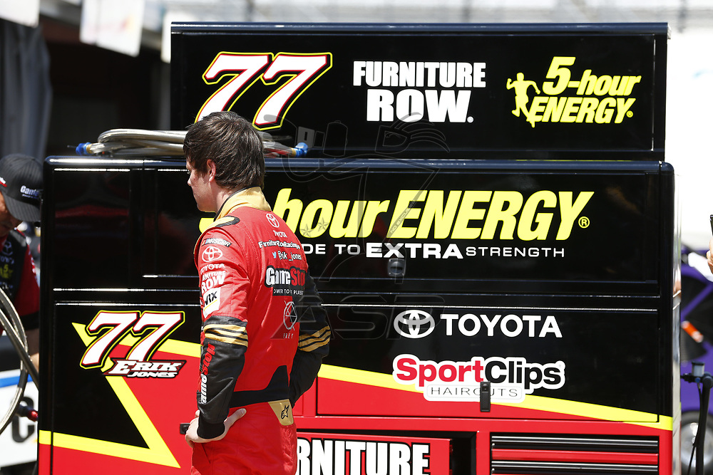 April 28, 2017 - Richmond, Virginia, USA: The Monster Energy NASCAR Cup Series teams take to the track to practice for the Toyota Owners 400 at Richmond International Speedway in Richmond, Virginia.