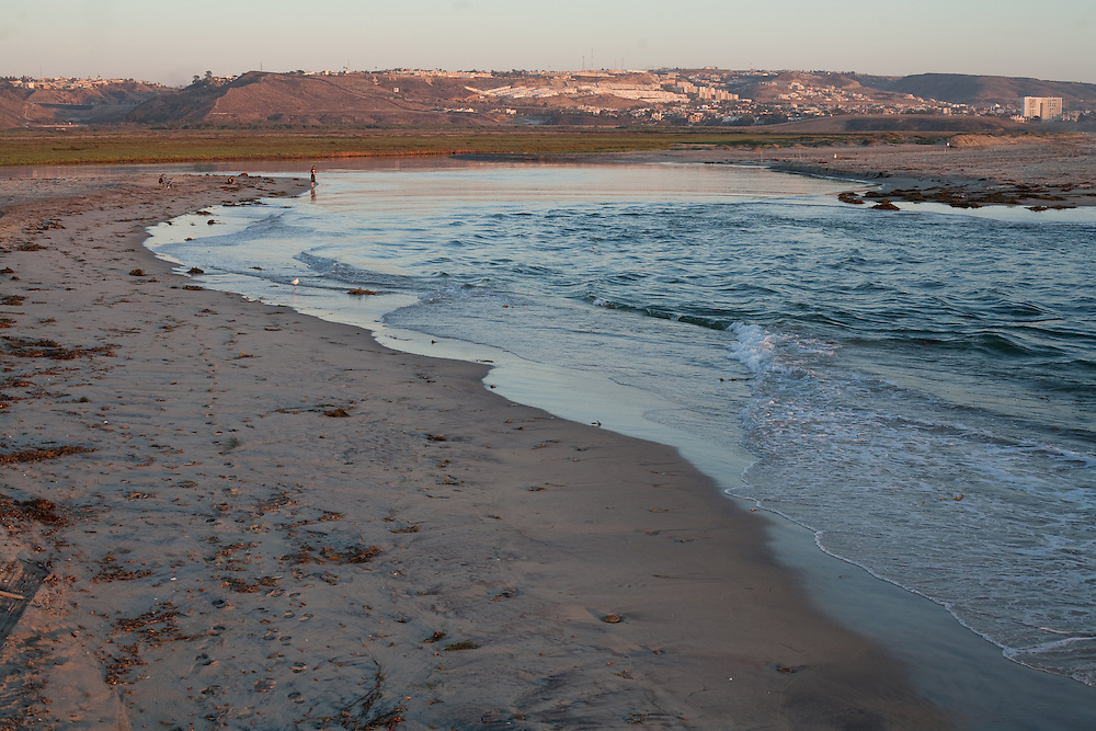 Near Imperial Beach, CA and just a few miles from the border, the Tijuana River meets the Pacific Ocean via the Tijuana River National Estuarine Research Reserve.