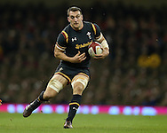 Sam Warburton of Wales in action. Under Armour 2016 series international rugby, Wales v Japan at the Principality Stadium in Cardiff , South Wales on Saturday 19th November 2016. pic by Andrew Orchard, Andrew Orchard sports photography