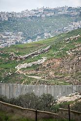 26 February 2020, Abu Dis, Palestine: The separation wall closes off Al-Shikhsa'ad from Abu Dis.