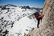 Alex Honold, soloing the South East Buttress of Cathedral Peak, 5.6, Yosemite, CA