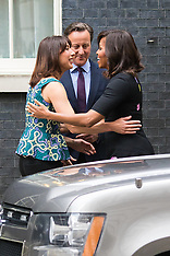 2015-06-16 US First Lady Michelle Obama visits the Camerons for tea at Downing Street