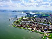 Nederland, Noord-Holland, Medemblik 07-05-2021; zicht op Medemblik met jachthavens. <br /> View of Medemblik with marinas.<br /> <br /> luchtfoto (toeslag op standard tarieven);<br /> aerial photo (additional fee required)<br /> copyright © 2021 foto/photo Siebe Swart