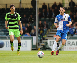 Forest Green Rovers's Kurtis Guthrie and Bristol Rovers' Tom Parkes chase after the ball.- Photo mandatory by-line: Nizaam Jones /JMP - Mobile: 07966 386802 - 03/05/2015 - SPORT - Football - Bristol - Memorial Stadium - Bristol Rovers v Forest Green Rovers - Vanarama Football Conference.