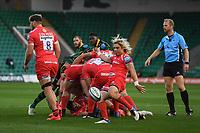 Rugby Union - 2019 / 2020 Gallagher Premiership - Northampton Saints v Sale Sharks - Franklin Gardens<br /> <br /> Sale Sharks' Faf De Klerk puts in a clearing kick.<br /> <br /> COLORSPORT/ASHLEY WESTERN