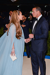 Jennifer Lopez and Alex Rodriguez arriving at The Metropolitan Museum of Art Costume Institute Benefit celebrating the opening of Rei Kawakubo / Comme des Garcons : Art of the In-Between held at The Metropolitan Museum of Art  in New York, NY, on May 1, 2017. (Photo by Anthony Behar) *** Please Use Credit from Credit Field ***