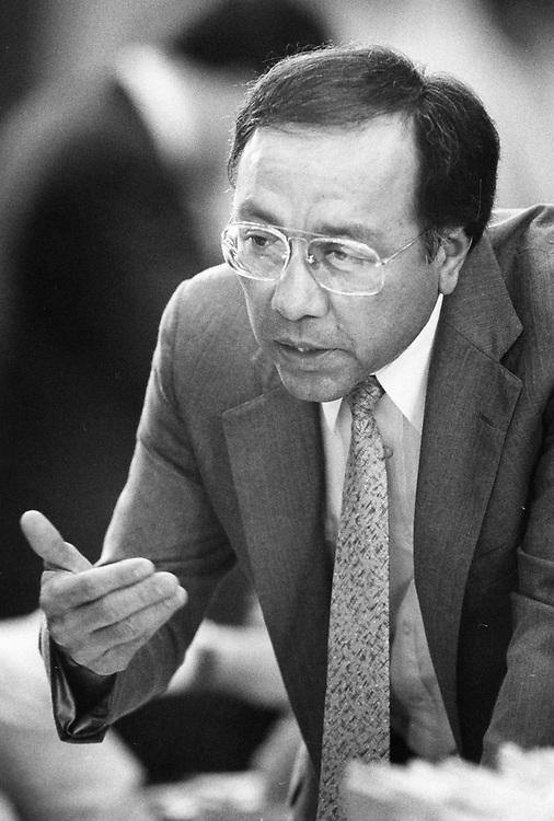 "©1989 State Rep. Juan ""Chuy"" Hinojosa D-McAllen,                       in the Texas House of Representatives in Austin."