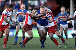 Wakefield Trinity's Craig Kopczak tries to break the Hull KR defence during the Betfred Super League match at Belle Vue, Wakefield.