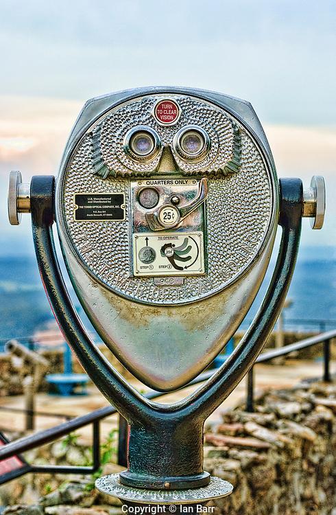 Chrome binoculars at Rock City.Lookout Mountain,Georgia, USA.