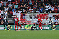 Derby striker Darren Bent (11) nearly gets a late goal, 1-1 during the EFL Sky Bet Championship match between Bristol City and Derby County at Ashton Gate, Bristol, England on 17 September 2016. Photo by Gary Learmonth.