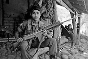 A platoon of teenage FMLN guerrillas in El Salvador.