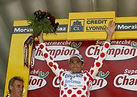 Sykkel<br /> Tour de France 2003<br /> Foto: Digitalsport<br /> <br /> NORWAY ONLY<br /> <br /> CYCLING - TOUR DE FRANCE 2003 - STEP7 - LYON > MORZINE-AVORIAZ - 12072003 - PHOTO: CROSNIER MILLEREAU / DPPI<br /> RICHARD VIRENQUE (FRA) / QUICK STEP - DAVITAMON
