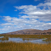 South America, Peru, Lake Titicaca. Scenery of Lake Titicaca near Puno.