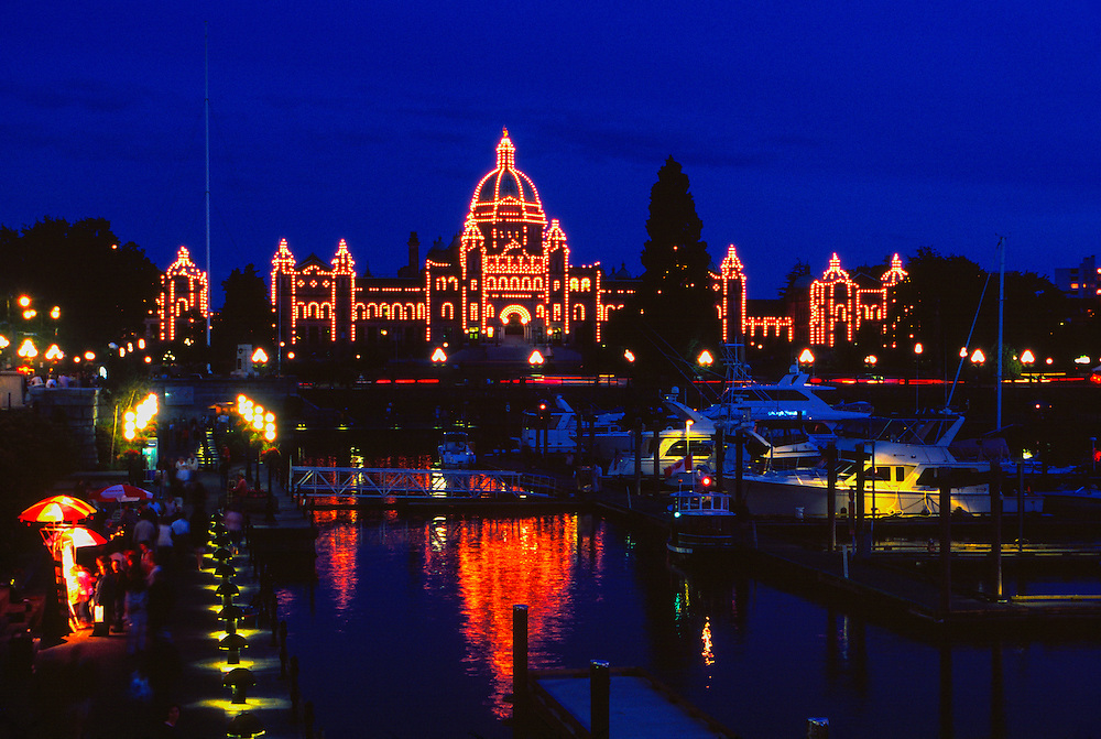 Inner Harbour (Parliament Buildings in back), Victoria, Vancouver Island, British Columbia, Canada