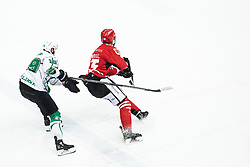 KOREN Gal vs Aljosa CRNOVIC during Alps League Ice Hockey match between HDD SIJ Jesenice and HK SZ Olimpija on March 2, 2020 in Ice Arena Podmezakla, Jesenice, Slovenia. Photo by Peter Podobnik / Sportida