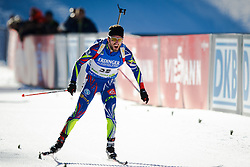 Winner Jean Guillaume Beatrix (FRA) during Men 15 km Mass Start at day 4 of IBU Biathlon World Cup 2015/16 Pokljuka, on December 20, 2015 in Rudno polje, Pokljuka, Slovenia. Photo by Ziga Zupan / Sportida