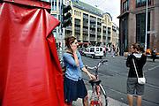 BERLIN, GERMANY - 26/06/2008 - TRAVEL, Streetscene at the An der Spandauer Brucke..cfr. Berlin, Germany, capital, trendy, telephone, calling, call..©Christophe VANDER EECKEN