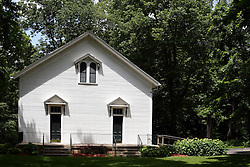 14 June 2015:   Funks Grove Illinois.  Funks Grove is located along historic Route 66, south of Bloomington Normal and north of McLean.  The small town still has an old but non-functional railroad depot, a country store and grain storage and processing facility.  A mile west, is the grove, a country church, outdoor chapel, nature center, cemetery and hiking trails.  The maple trees in the grove are tapped late every wither for sap which is turned into sirup