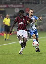 August 3, 2017 - Milan, Italy - Frank Kessie during the preliminaries of Europa League 2017/2018 match between Milan v Craiova, in Milan, on august 3, 2017  (Credit Image: © Loris Roselli/NurPhoto via ZUMA Press)