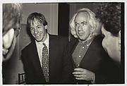 Leon Wieseltier, New Republic party. Washington. 1993.