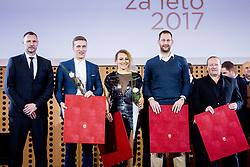 Rade Trifunovic, Jan Grebenc, Ilka Stuhec, Sasa Zagorac, Matjaz Savsek, 53. podelitev Bloudkovih priznanj za leto 2017, on February 16, 2018 in Brdo pri Kranju, Kranj, Slovenia. Photo by Ziga Zupan / Sportida