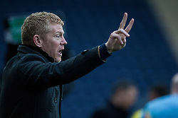 Falkirk's manager Gary Holt.<br /> Falkirk 1 v 0 Queen of the South, Scottish Championship game today at the Falkirk Stadium.<br /> © Michael Schofield.