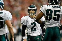 18 Jan 2009: Philadelphia Eagles PK David Akers #2 reacts after missing an extra point attempt during the NFC Championship game against the Arizona Cardinals on January 18th, 2009. The Cardinals won 32-25 at University of Phoenix Stadium in Glendale, Arizona. (Photo by Brian Garfinkel)