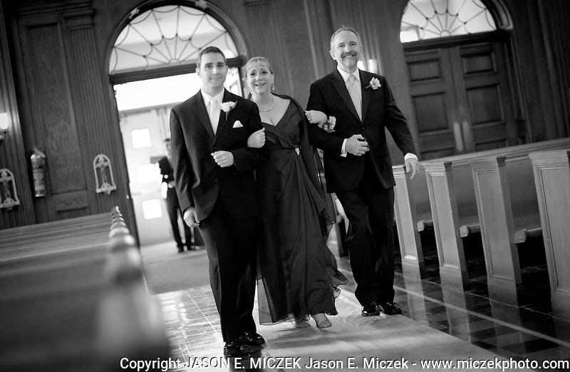 Katie and Justin Ukleja Chicago wedding Saturday, November 5, 2011 at St. Bartholomew Catholic Church with reception at the Hilton Garden Inn Des Plaines.  Photo by JASON E. MICZEK - www.miczekphoto.com Katie and Justin Ukleja wedding November 5, 2011 at St. Bart's Catholic Church, Chicago, Ill. Photo by JASON E. MICZEK - www.miczekphoto.com