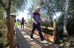 Team USA's Bryson DeChambeau walks from the 2nd to the 3rd during preview day four of the Ryder Cup at Le Golf National, Saint-Quentin-en-Yvelines, Paris. PRESS ASSOCIATION Photo. Picture date: Thursday September 27, 2018. See PA story GOLF Ryder. Photo credit should read: Adam Davy/PA Wire. RESTRICTIONS: Editorial use only. No commercial use.