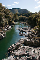 New Zealand, South Island, Pelorus River Bridge scenic view on road from Nelson to Marlborough. Photo copyright Lee Foster. Photo #126143