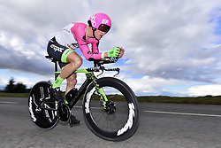March 7, 2018 - Saint Etienne, France - SAINT-ETIENNE, FRANCE - MARCH 7 : BRESCHEL Matti  (DEN)  of Team EF Education First - Drapac p/b Cannondale in action during stage 4 of the 2018 Paris - Nice cycling race, an individual time trial over 18,4 km from La Fouillouse to Saint-Etienne on March 07, 2018 in Saint-Etienne, France, 7/03/2018 (Credit Image: © Panoramic via ZUMA Press)