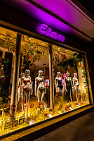 Shop window of Etam Lingerie Boutique, Rue du Four, 6th arr., Paris, France.