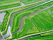 Nederland, Zuid-Holland, Pijnacker-Nootdorp; 14–05-2020; Bergboezem Polder van Oude Leede, ter hoogte van buurtschap Oude Leede, onderdeel van de Berkelse Boezem. De polder, met de Boezemweg,  is een natuurreservaat en tevens voorbestemd als waterberging ofwel een calamiteitenberging.<br /> Bergboezem Polder van Oude Leede, near the hamlet of Oude Leede, part of the Berkelse Bosom. The polder is a nature reserve and also destined as a water storage or a calamity storage.<br /> <br /> luchtfoto (toeslag op standaard tarieven);<br /> aerial photo (additional fee required)<br /> copyright © 2020 foto/photo Siebe Swart