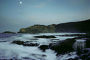 Dinosaur Cove by moonlight. Dinosaur Cove, near Cape Otway, southern Australia, is the world's first mine developed specifically for paleontology.