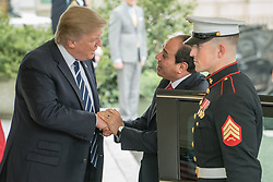 April 3, 2017 - Washington, District Of Columbia, U.S - U.S. President DONALD J. TRUMP welcomes President ABDEL FATTAH AL SISI of Egypt, at the West Wing of the White House. (Credit Image: © Ken Cedeno via ZUMA Wire)