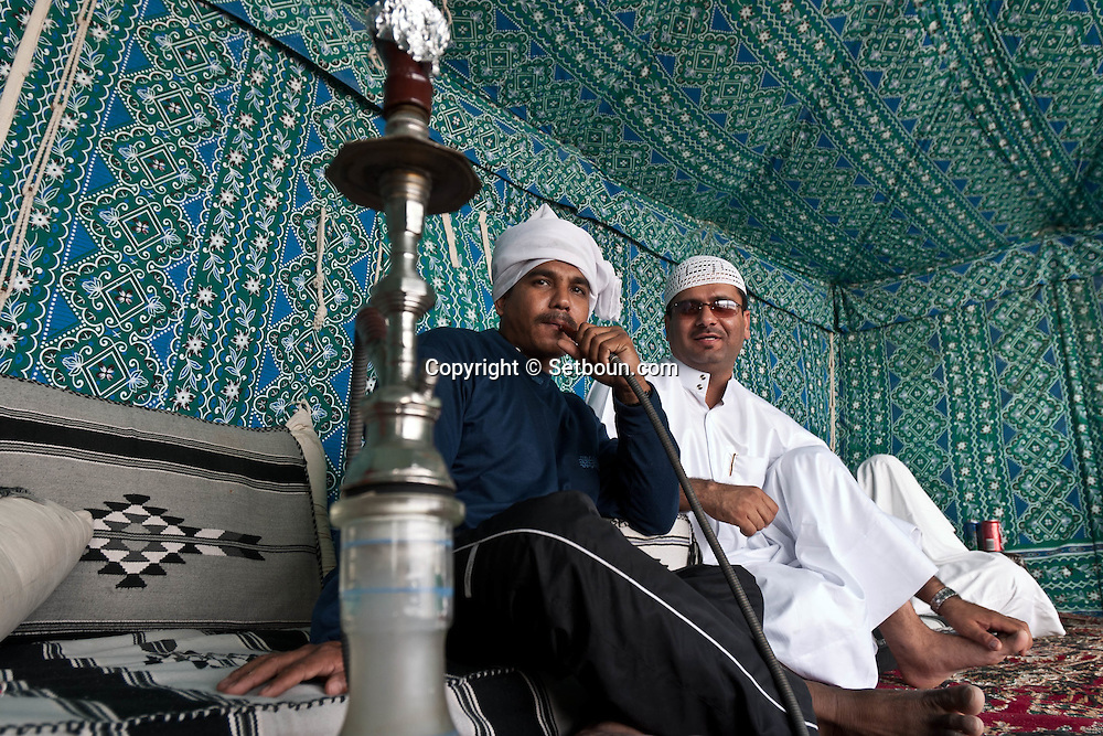 = under a bedouin tent, south desert and inland sea  Doha  QATAR  +