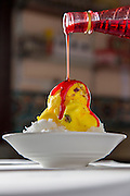 Faloodeh with Saffron Ice Cream and Rose Syrup at Sadaf Iranian Sweets shop, United Arab Emirates