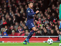 Football - 2016 / 2017 UEFA Champions League - Group A: Arsenal vs. Paris Saint-Germain<br /> <br /> Thiago Silva of PSG  at The Emirates.<br /> <br /> COLORSPORT/ANDREW COWIE