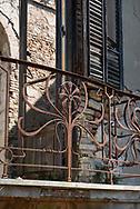 Terme del Corallo or Acque della salute. Iron-beaten on a small terrace that was destroyed