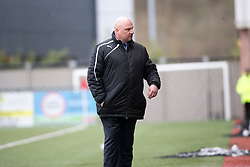 Forfar Athletic's manager Gary Bollan after Forfar Athletic's keeper Grant Adam got a red card. Clyde 2 v 2 Forfar Athletic, Scottish League Two game played 4/3/2017 at Clyde's home ground, Broadwood Stadium, Cumbernauld.