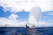 Storm Vogel sailing in the Windward Race at the Antigua Classic Yacht Regatta.