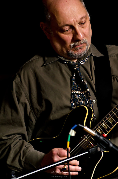 Steve Goldstein performing with West River Drive at The Bus Stop Music Cafe in Pitman, NJ. He also covered the keys as well as playing in the Norman Taylor Trio