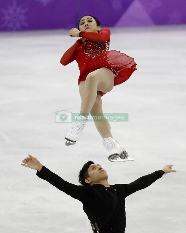 February 15, 2018 - Pyeongchang, South Korea - WENJING SUI and CONG HAN of China compete in pairs free skating during the Pyeongchang 2018 Olympic Winter Games at Gangneung Ice Arena. (Credit Image: © David McIntyre via ZUMA Wire)