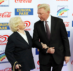 12.04.2019, Europa Park, Rust, GER, Radio Regenbogen Award 2019, im Bild Mutter Elvira mit Sohne Boris Becker (Ex-Tennisspieler) // during the Radio Rainbow Award at the Europa Park in Rust, Germany on 2019/04/12. EXPA Pictures © 2019, PhotoCredit: EXPA/ Eibner-Pressefoto/ Joachim Hahne<br /> <br /> *****ATTENTION - OUT of GER*****